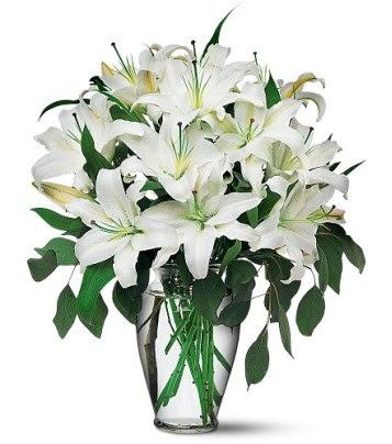 Batman internetten çiçek satışı  4 dal kazablanka ile görsel vazo tanzimi