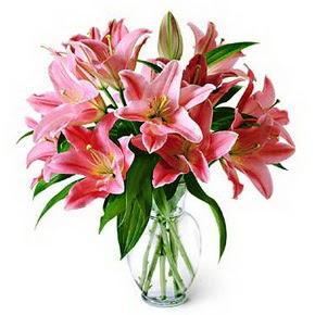 3 dal kazablanka görsel vazosu  Batman internetten çiçek siparişi