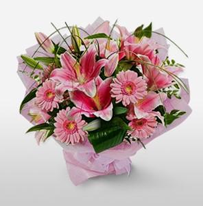1 dal kazablanka ve kır çiçek görsel buketi  Batman internetten çiçek satışı