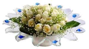 Batman çiçek online çiçek siparişi  11 adet Beyaz güller özel cam tanzim