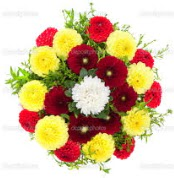 Batman çiçekçi mağazası  13 adet mevsim çiçeğinden görsel buket