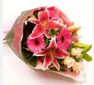 1 dal kazablanka ve mevsim çiçekleri  Batman internetten çiçek siparişi