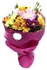 1 demet karışık görsel buket  Batman anneler günü çiçek yolla