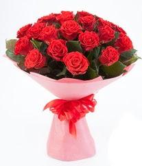 15 adet kırmızı gülden buket tanzimi  Batman çiçek siparişi sitesi