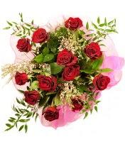 12 adet kırmızı gül buketi  Batman 14 şubat sevgililer günü çiçek