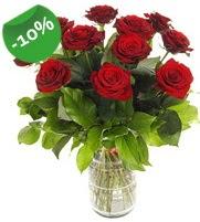 11 adet vazo içerisinde kırmızı gül  Batman online çiçek gönderme sipariş