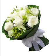 9 adet beyaz gül buketi  Batman çiçek siparişi sitesi