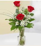 Vazo içerisinde 3 adet kırmızı gül  Batman çiçek satışı