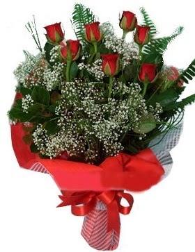 7 kırmızı gül buketi  Batman çiçek servisi , çiçekçi adresleri