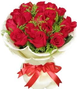 19 adet kırmızı gülden buket tanzimi  Batman çiçek servisi , çiçekçi adresleri