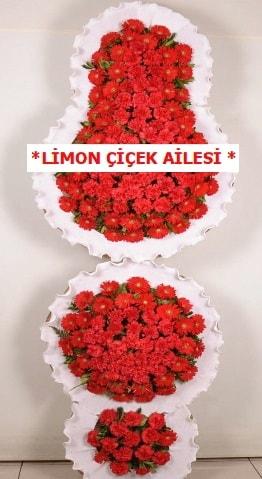 3 katlı kırmızı düğün açılış çiçeği  Batman çiçek gönderme