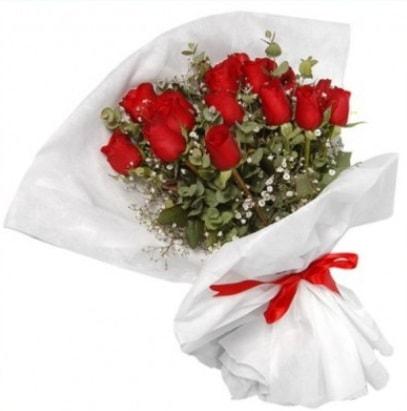 9 adet kırmızı gül buketi  Batman çiçekçi mağazası