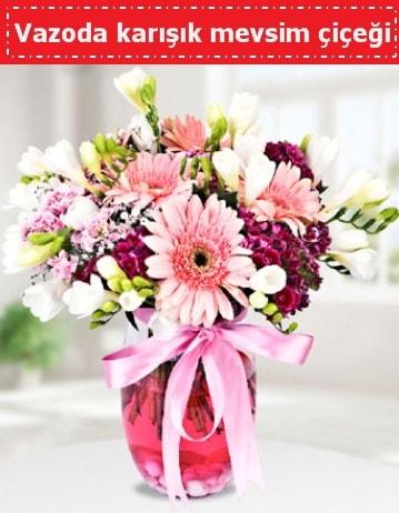 Vazoda karışık mevsim çiçeği  Batman çiçek , çiçekçi , çiçekçilik