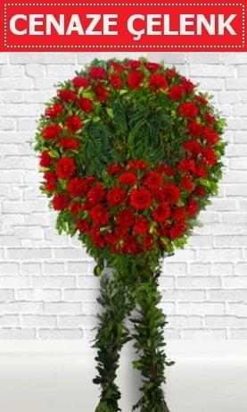 Kırmızı Çelenk Cenaze çiçeği  Batman İnternetten çiçek siparişi