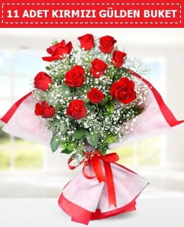 11 Adet Kırmızı Gül Buketi  Batman internetten çiçek siparişi