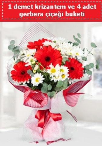 Krizantem ve Gerbera Buketi  Batman çiçek siparişi sitesi