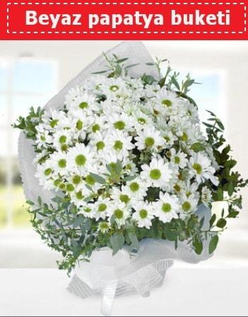 Beyaz Papatya Buketi  Batman 14 şubat sevgililer günü çiçek