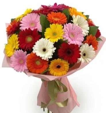Karışık büyük boy gerbera çiçek buketi  Batman çiçek satışı